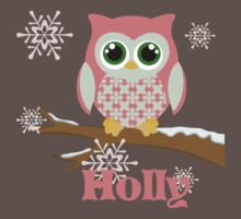 Winter pink owl ~ YOU MUST BUBBLEMAIL ME FOR YOUR CUSTOM LISTING by sweetsisters