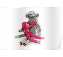 Hugging Monkeys Poster