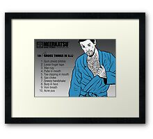 10 Grossest Things in BJJ - Part 2 Framed Print