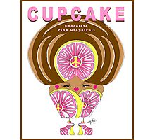 CUPCAKE : Chocolate Pink Grapefruit Photographic Print