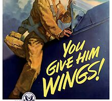 You Give Him Wings -- World War Two by warishellstore