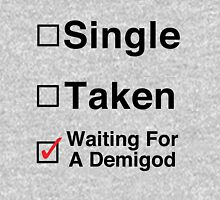 Waiting for a Demigod Womens Fitted T-Shirt