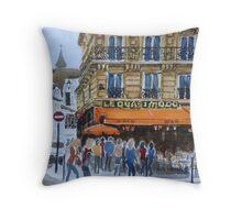 Le Quasimodo Cafe, Paris Throw Pillow