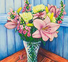Baby Pink Lilies by Josh De Pasquale