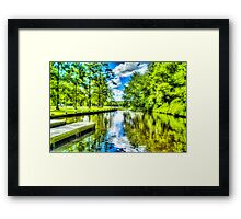 Lake in Assateague, Maryland, USA Framed Print