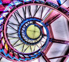 Inside of the Pagoda in Baltimore City, USA by Noam  Kostucki
