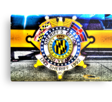 Sheriff Badge on a Police Car in Assateague, Maryland, USA Metal Print