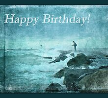 Birthday Greeting Card - Fishing On The Jetty by MotherNature