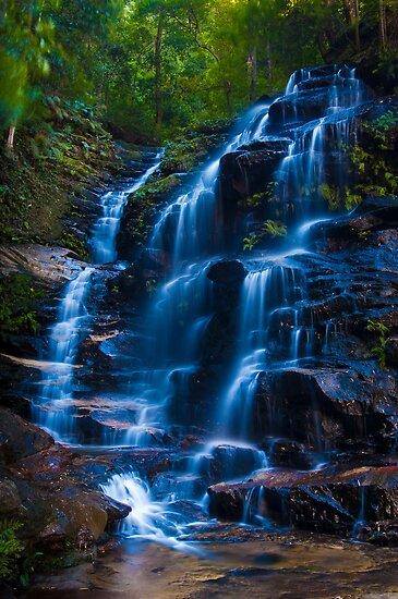 Sylvia Falls, Blue Mountains by Erik Schlogl