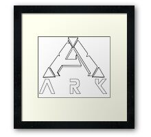 ARK Survival Evolved Minimalist White Framed Print