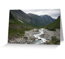 Norway, Isterdalen Valley from the Troll Road  Greeting Card