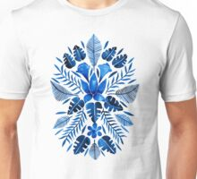 Tropical Symmetry – Navy Unisex T-Shirt