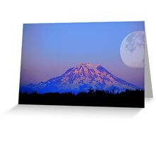 The Super Moon and Mt. Rainier Greeting Card