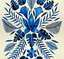 Tropical Symmetry – Navy by Cat Coquillette