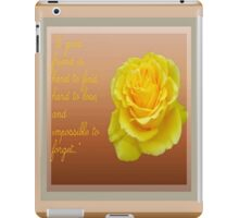 A Good Friend Is Hard To Find and Hard To Lose Greeting Card iPad Case/Skin