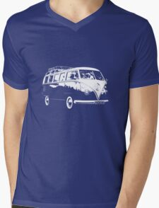 VW Split Screen Camper  Mens V-Neck T-Shirt