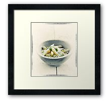 Wild Garlic Risotto With Asparagus Framed Print
