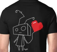 8 bit robot heart balloon Unisex T-Shirt