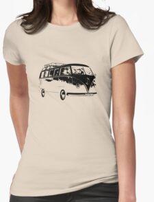 VW Split Screen Camper Womens Fitted T-Shirt