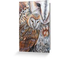 Barn Owl Fantasy Greeting Card
