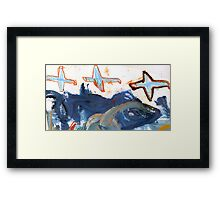 birds above the clouds Framed Print