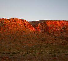 Escarpment at Sunrise by Richard  Windeyer