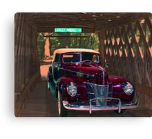 Stemley Covered Bridge Canvas Print