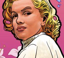 Marilyn Monroe in Mucha Sticker