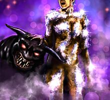 """""""Are you a God?"""" Gozer ghostbusters Painting by Jerry Pesce"""