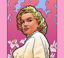 Marilyn Monroe in Mucha by bronkula