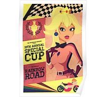 Princess Peach Mario Kart Poster