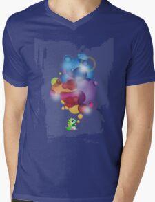 Bubbled Mens V-Neck T-Shirt