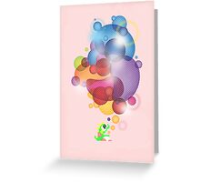 Bubbled Greeting Card
