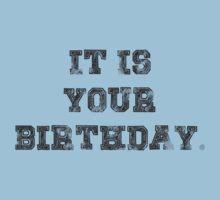 IT IS YOUR BIRTHDAY. Kids Tee