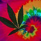 Pot Leaf and Tie Dye by FloraDiabla