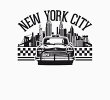 New York City Skyline and Taxi Chequer T-Shirt