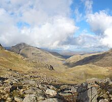 Scafell Pike Cumbria Panorama by Paul Madden