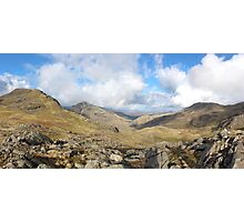 Scafell Pike Cumbria Panorama Photographic Print