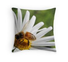 The Beauty and the Bee Throw Pillow