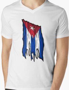 Cuban Flag Mens V-Neck T-Shirt