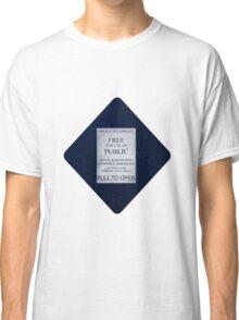 Doctor Who- Tardis Car Sticker  Classic T-Shirt