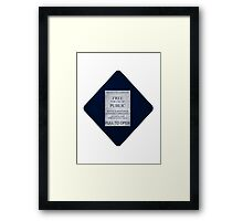 Doctor Who- Tardis Car Sticker  Framed Print