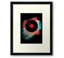 Vinyl Record T Shirt - Modern Vinyl Records T-Shirt Grunge Design Framed Print