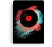 Vinyl Record T Shirt - Modern Vinyl Records T-Shirt Grunge Design Canvas Print