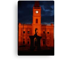Kadina Town Hall at night. Canvas Print