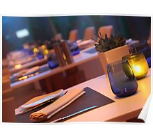 up market restaurant table Poster