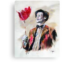 The Doctor and his red balloon. Canvas Print