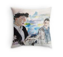 First Meeting  Throw Pillow