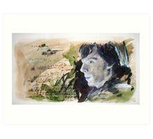 A Study in Sherlock Art Print