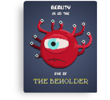 Beauty of the Beholder Canvas Print